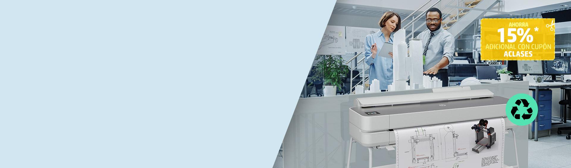 Con HP Designjet, piensa en grande, imprime con facilidad.