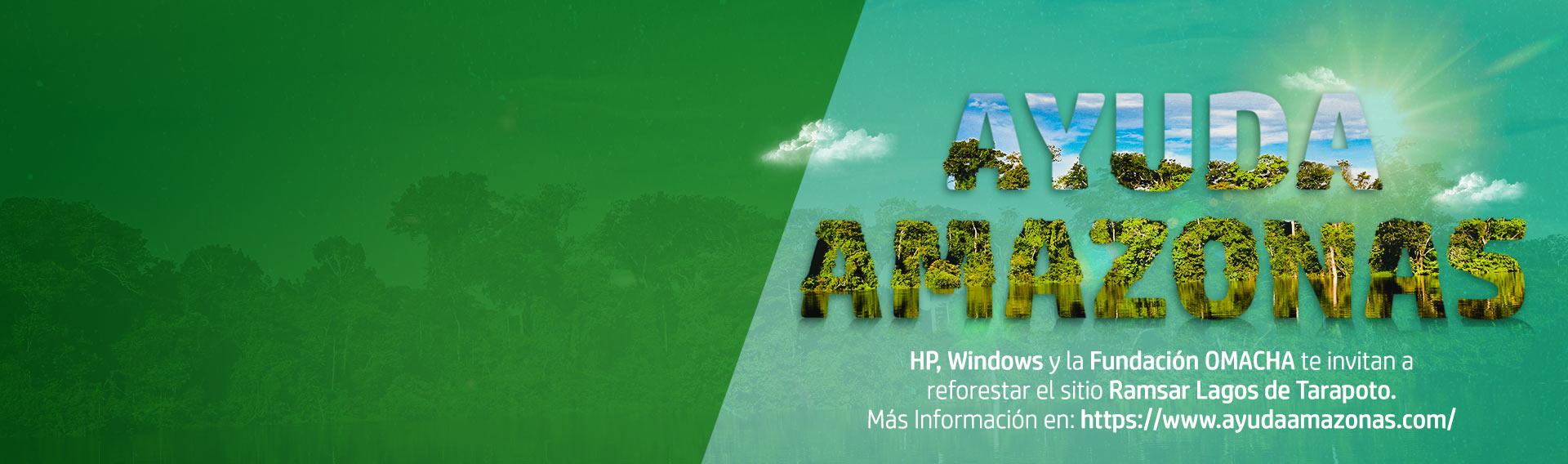 Compra portátiles premium HP y ayuda al Amazonas.
