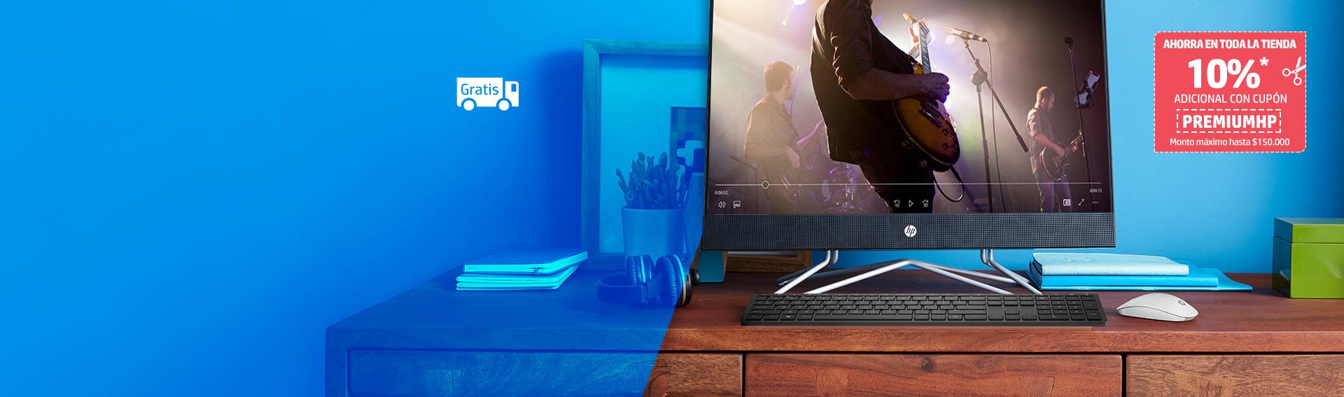 Desktops HP con hasta 20% dcto. + 10% adicional con cupón.