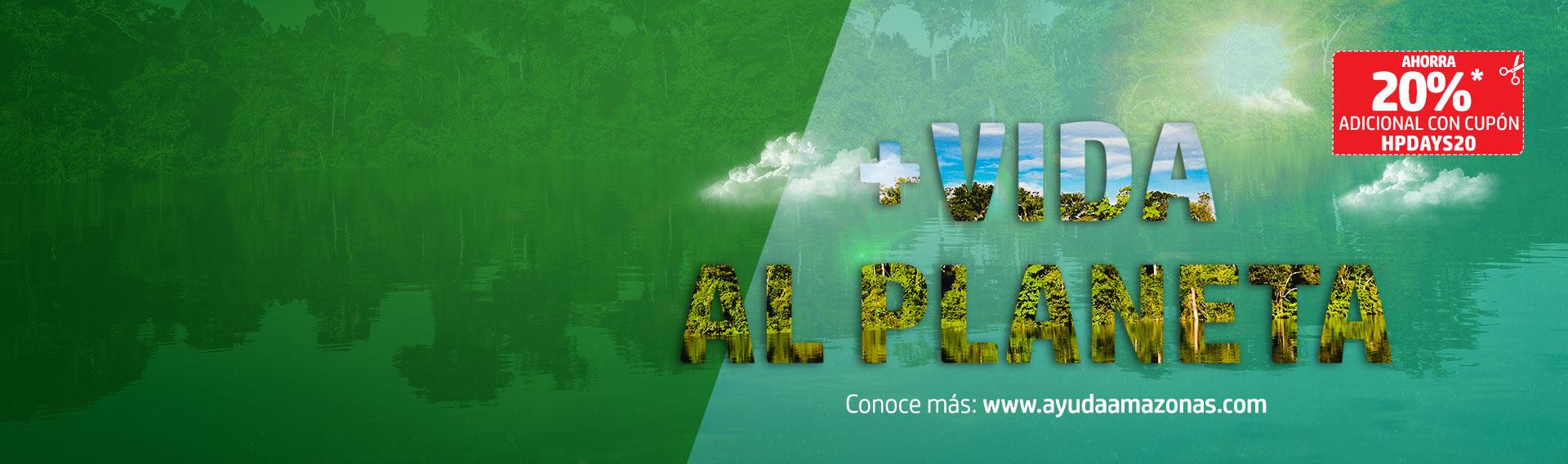 Adquiere productos HP y ayuda a mantener vivo el Amazonas.