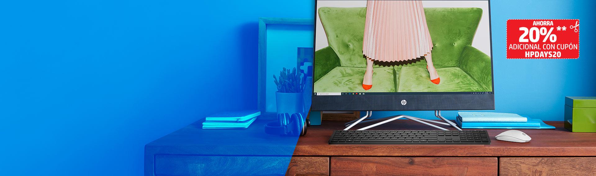 Desktops HP con hasta 19%* dcto. + cupón.