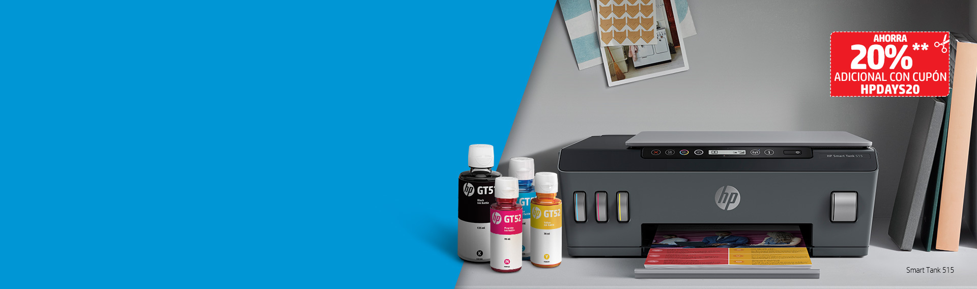 Impresoras HP hasta 10%* dcto. + cupón
