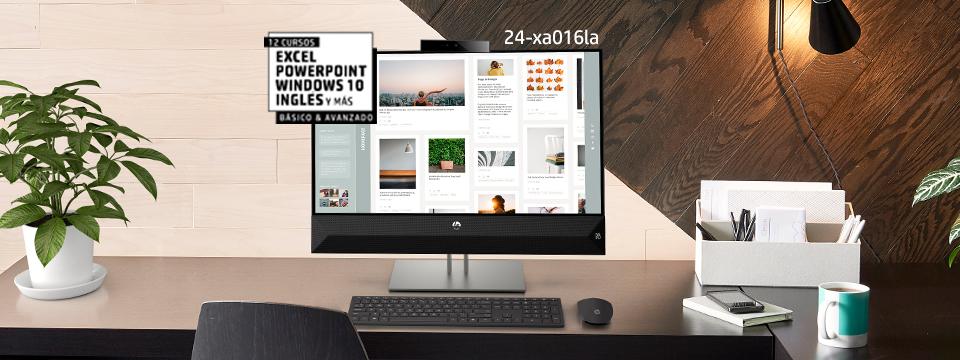 Desktops HP. Ahorra hasta 21%* más 15% dcto. adicional con cupón** ACLASES.