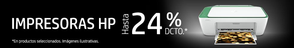Impresoras HP hasta 24%* dcto.