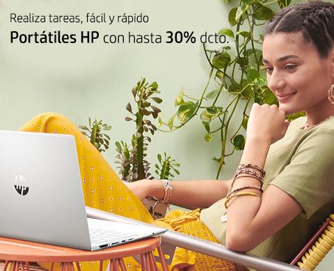Portátiles HP con hasta 30% dcto.