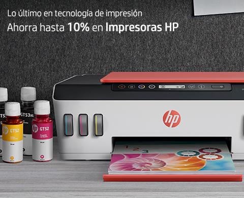 Ahorra hasta 10% en Impresoras HP.