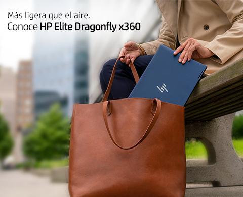 Más ligera que el aire. Conoce HP Elite Dragonfly x360.