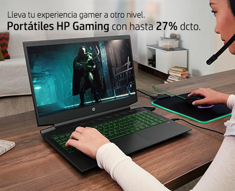 Lleva tu experiencia gamer a otro nivel. Portátiles HP Gaming con hasta 27% dcto.