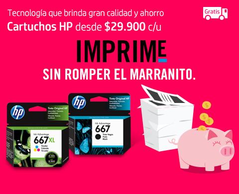 Cartuchos HP desde $29.900 c/u más envío gratis.
