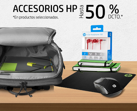 Accesorios HP con hasta 50% dcto.*