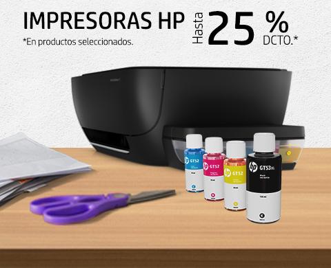 Impresoras HP con hasta 25% dcto.*
