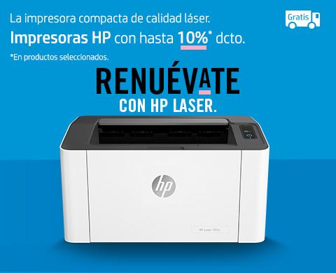 Impresoras HP con hasta 10% dcto. + envío gratis en seleccionados.