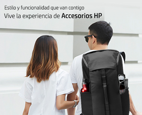 Estilo y funcionalidad que van contigo. Vive la experiencia de Accesorios HP.