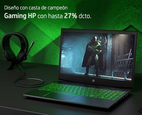 Gaming HP con hasta 27% dcto.