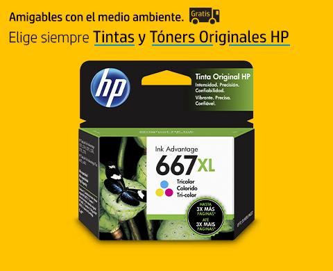 Elige siempre Tintas y Tóners Originales HP con envío gratis.