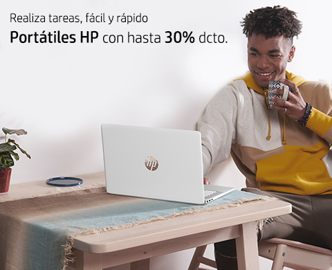 Realiza tareas, fácil y rápido. Portátiles HP con hasta 30%* dcto.