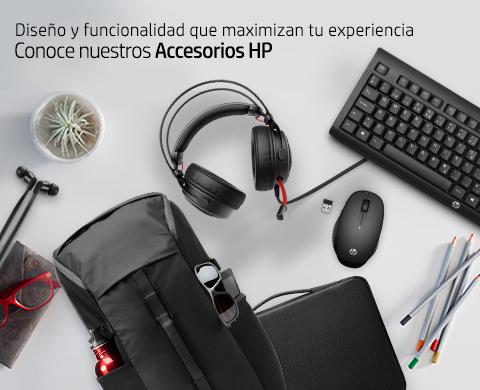 Diseño y funcionalidad que maximizan tu experiencia. Conoce nuestros Accesorios HP.