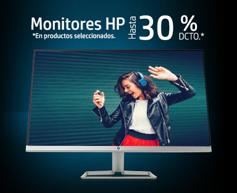 Monitores HP hasta 30%* dcto.