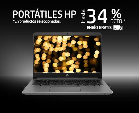 Portátiles HP hasta 34% dcto.*