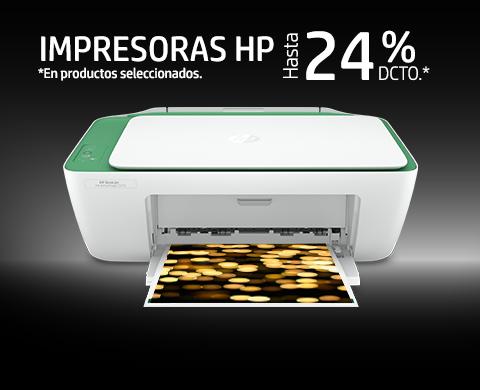Impresoras HP hasta 24% dcto.*